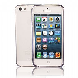 Jarv Flexible TPU Matte finish Snap-on case for iPhone 5, Clear