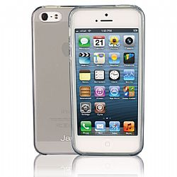 Jarv Flexible TPU Matte finish Snap-on case for iPhone 5, Clear Grey
