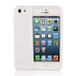 Jarv Flexible TPU Matte finish Snap-on case for iPhone 5, White