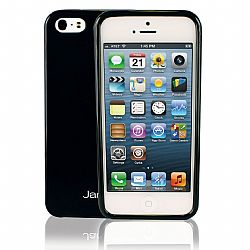 Jarv Flexible TPU Matte finish Snap-on case for iPhone 5 , Black