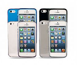 Jarv 4-Pack Flexible TPU Matte finish Snap-on case for iPhone 5 - Clear,Grey,Blue,Black