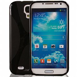Jarv Rubberized Silicone Skin case for Galaxy S4, Black