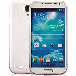 Jarv Rubberized Silicone Skin case for Galaxy S4, Clear