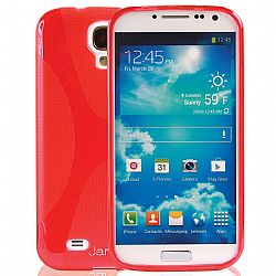 Jarv Rubberized Silicone Skin case for Galaxy S4, Red