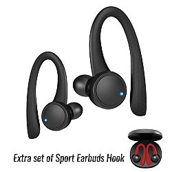 Jarv Active Motion Sport True Wireless Bluetooth 5.1 Stereo Earbuds , Black