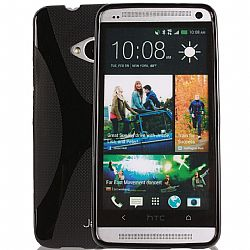 Jarv Rubberized Silicone Skin case for HTC One (M7), Black