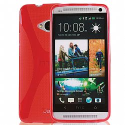 Jarv Rubberized Silicone Skin case for HTC One (M7), Red