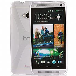 Jarv Rubberized Silicone Skin case for HTC One (M7), Clear