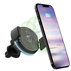 Jarv Universal Mobile Phone Car Holder with Qi Certified Wireless Charging and Vent Mount, Compatible with most smartphones from 4ö to 6.5ö screen sizes