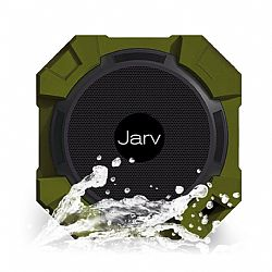 Jarv X96 Rugged Indoor/Outdoor 5 Watt Bluetooth Portable Speaker with X BASS Passive Sub, IPX5 Rated Water Resistance, Shockproof and Dustproof , with up to 5 hours of Play time - Military Green