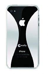 MACALLY METROIMDP4 IPHONE 4 REFLECTIVE CASE WITH RUBBER GRIP & STICKY SWIPE
