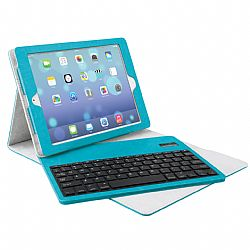 Merkury Tactile Keyboard Case for iPad Air - Blue/Grey