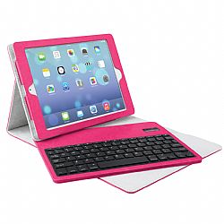 Merkury Tactile Keyboard Case for iPad Air - Pink/Grey