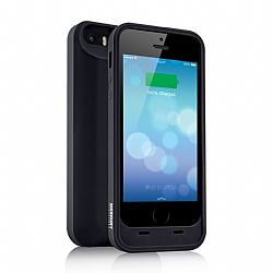 Merkury MFI Silicone Power Case for iPhone 5/5S 2000 mAh - Black