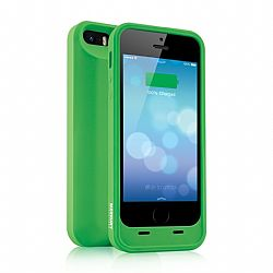 Merkury MFI Silicone Power Case for iPhone 5/5S 2000 mAh - Green