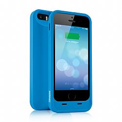 Merkury MFI Silicone Power Case for iPhone 5/5S 2000 mAh - Blue