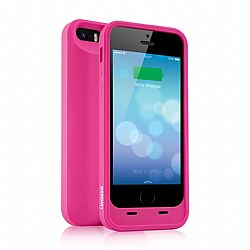 Merkury MFI Silicone Power Case for iPhone 5/5S 2000 mAh - Pink