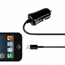 Merkury 2.1 Amp Car Charger with Lightning Connector - Black