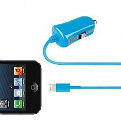 Merkury 2.1 Amp Car Charger with Lightning Connector - Blue