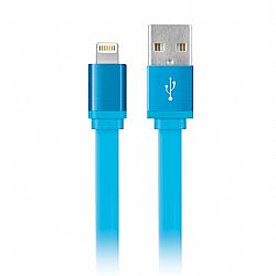 Merkury 6 Foot MFI Flat Lightning Sync and Charge Cable - Blue