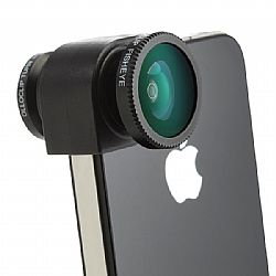olloclip 3 IN ONE lens system: FisheyeWide-Angle - Macro. Includes - caps - and bag for iPhone 5 - Black