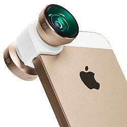 Olloclip iPhone 5/5s 4-IN-1 lens system: Fisheye, Wide-Angle, 10x Macro and 15x Macro - Gold