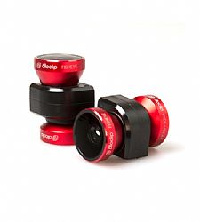 Olloclip iPhone 5/5s 4-IN-1 lens system: Fisheye, Wide-Angle, 10x Macro and 15x Macro - Red