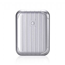Just Mobile Gum++� Portable USB Backup Battery - Silver (6000 mAh)