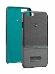 Ventev Penna Leather Case for Apple iPhone 6 4.7 - Gray/Aqua