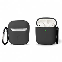 RevJams Hard Shell Protective Case Cover For Apple AirPods/AirPods 2 with Carabiner- Black