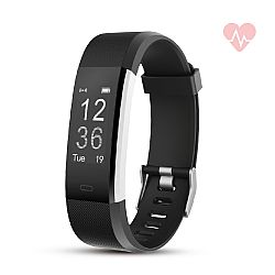 RevJams Moda + HR Bluetooth Fitness Activity Tracker with built-in Heart Rate Monitor- Black/Silver
