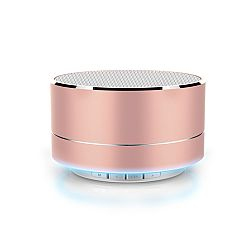 RevJams Satellite Bluetooth LED Speaker with FM radio, Micro SD slot and AUX port - Rose Gold