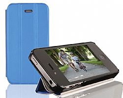 RevJams FlipBack HG Smart Case/Cover with Stand for iPhone 4/4S, Black/Dark Blue
