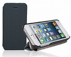 RevJams FlipBack Smart Case/Cover with Stand for Iphone 5, Black/Dark Grey