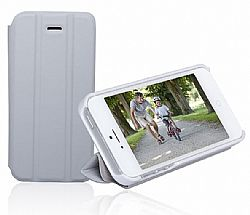 RevJams FlipBack Smart Case/Cover with Stand for Iphone 5, White/Grey