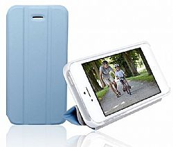 RevJams FlipBack Smart Case/Cover with Stand for Iphone 5, White/Blue