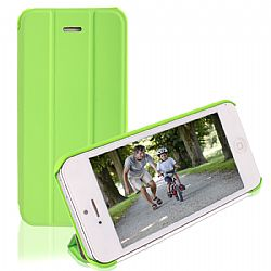 RevJams FlipBack Smart Case/Cover with Stand for iPhone 5C- Green