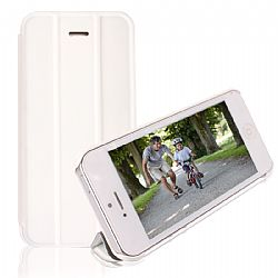 RevJams FlipBack Smart Case/Cover with Stand for iPhone 5C-White