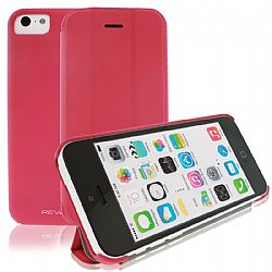 RevJams FlipBack Smartphone cover/case for IPhone 5C, Hot Pink