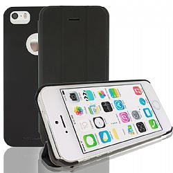 RevJams FlipBack Smart Case/Cover with Stand for iPhone 5S- Black