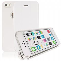 RevJams FlipBack Smart Case/Cover with Stand for iPhone 5S- White