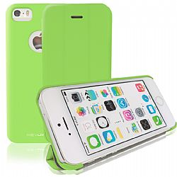 RevJams FlipBack Smart Case/Cover with Stand for iPhone 5S- Green