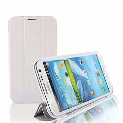 RevJams HG FlipBack Smart Case/Cover with Stand for Samsung Galaxy Note 2, White/Grey