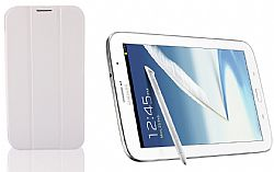 RevJams FlipBack Smart Case/Cover with Stand for Samsung Galaxy Note 8, White/Grey