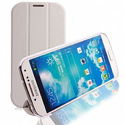 RevJams FlipBack HG Smart Case/Cover with Stand for Samsung Galaxy S4, White/Grey