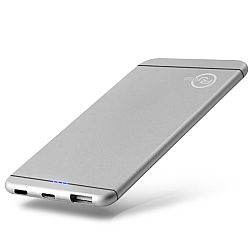 RJ Power 5,000mAh Ultra Slim Power Bank- Silver