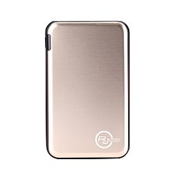 RJ Power 5,000mah Ultra Slim Metallic Portable Power Bank - Gold
