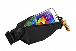 RevJams Expandable Sports Running and Fitness Waist Pack Belt -Black