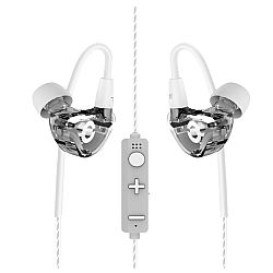 RevJams Lite Wireless Bluetooth Noise Isolating In-Ear Headphones with Memory Wire, Clear