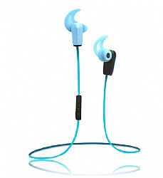 RevJams Active® Sport Wireless Bluetooth 4.0 Earbuds with Noise Isolation and in line microphone, Blue